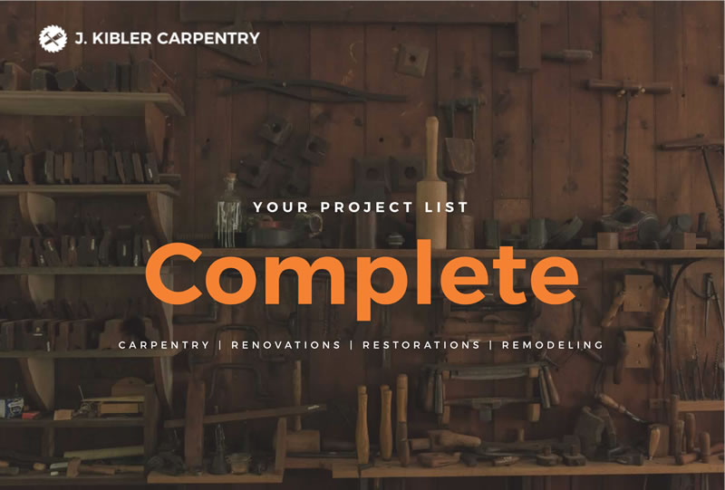 J Kibler Carpentry | Sample of Our Work