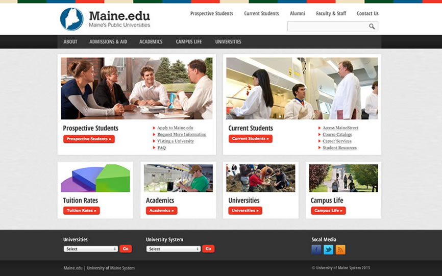Maine.edu | Sample of Our Work